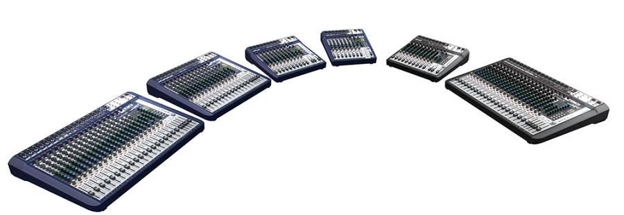 声艺推出了全新世界级的signature系列模拟调音台