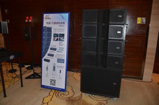 g系列线阵音箱采用精密吊装方式